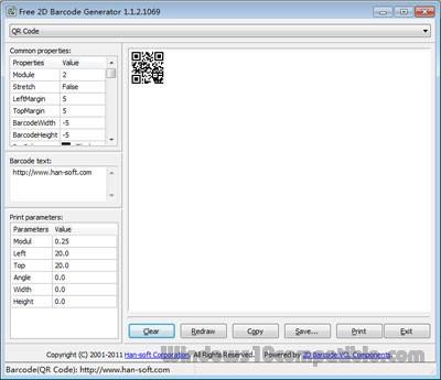Free 2D Barcode Generator 5 0 1 2342 Free download